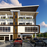 4 Storey Apartment with Commercial Units Building Concept