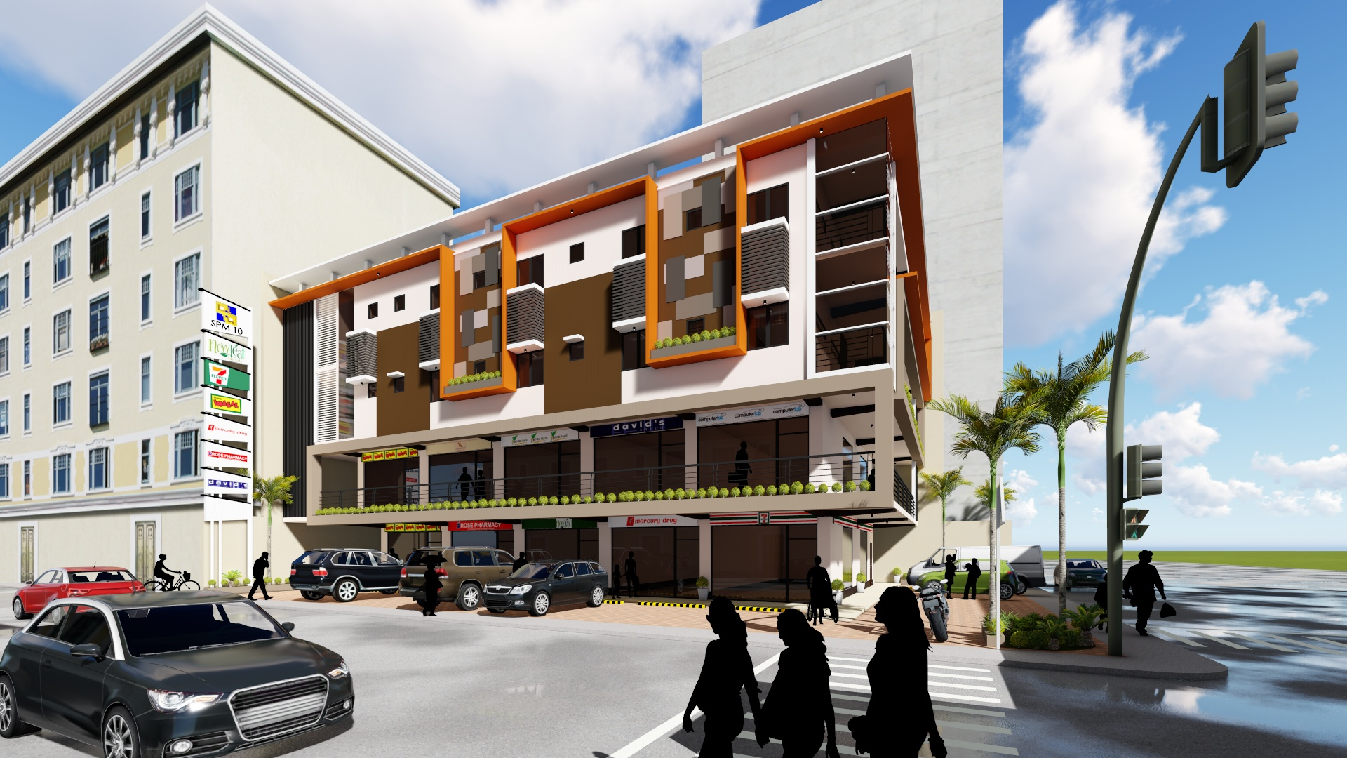 4 storey commercial building concept for Concept building
